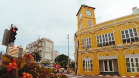 Phuket stary miasteczko w thalang drodze z chino portugalczyka stylu buil Obrazy Stock