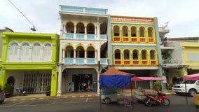 Phuket stary miasteczko w thalang drodze z chino portugalczyka stylu buil Zdjęcia Stock