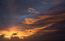 Phuket sunset at Natai beach Stock Photography