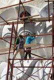 Phuket, Tailândia: Artesãos em Buddha grande Foto de Stock Royalty Free