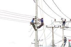 PHUKET, TAILÂNDIA - 17 DE SETEMBRO DE 2015: Instalando o sinal novo Imagem de Stock Royalty Free
