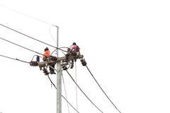 PHUKET, TAILANDIA - 17 DE SEPTIEMBRE DE 2015: Instalación del nuevo semáforo Foto de archivo