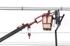 PHUKET, TAILANDIA - 17 DE SEPTIEMBRE DE 2015: Instalación del nuevo semáforo Imagenes de archivo