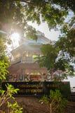 Phuket, Tailandia - 21 febbraio 2017: Towe di punto di vista della città di Phuket Fotografie Stock Libere da Diritti