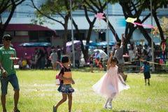 Phuket, Tailandia - gennaio 14,2017: Campo da giuoco sul acti di giorno dei bambini Immagine Stock Libera da Diritti