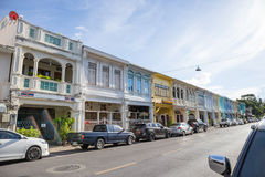 Phuket, Tailandia - 5 maggio 2015: Vecchio punto di riferimento portoghese di costruzione di stile di Chino a Phuket il 5 maggio  Immagine Stock