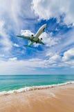 Phuket, Tailandia - 25 novembre 2016: atterraggio piano Fotografia Stock Libera da Diritti