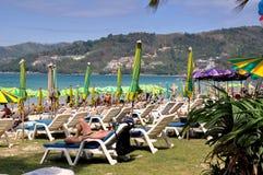 Phuket, Tailandia: Spiaggia idillica di Patong Fotografie Stock