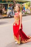Phuket Tajlandia, Aug, - 26, 2016: Niezidentyfikowana piękna dziewczyna jak Obraz Royalty Free