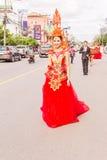 Phuket Tajlandia, Aug, - 26, 2016: Niezidentyfikowana piękna dziewczyna jak Fotografia Royalty Free