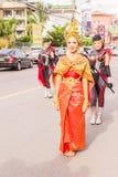 Phuket Tajlandia, Aug, - 26, 2016: Niezidentyfikowana piękna dziewczyna jako leade Obrazy Stock