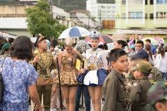 PHUKET TAJLANDIA, AUG, - 26: Parada galanteryjny uczeń na Augus Zdjęcia Stock