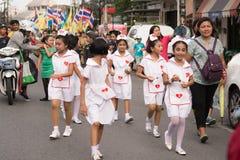 PHUKET TAJLANDIA, AUG, - 26: Parada galanteryjny uczeń na Augus Obrazy Royalty Free
