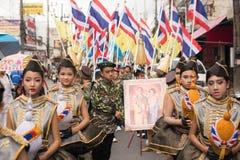 PHUKET TAJLANDIA, AUG, - 26: Parada galanteryjny uczeń na Augus Obraz Stock