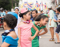PHUKET TAJLANDIA, AUG, - 26: Parada galanteryjny uczeń na Augus Fotografia Royalty Free