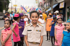 PHUKET TAJLANDIA, AUG, - 26: Parada galanteryjny uczeń na Augus Zdjęcie Royalty Free