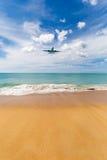Phuket Tajlandia, Listopad, - 25, 2016: płaski lądowanie Obraz Stock