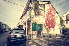 PHUKET TAJLANDIA, NOV, - 21: Phuket stary miasteczko w thalang drodze z Obraz Royalty Free