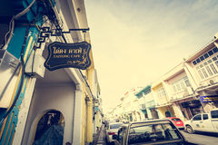 PHUKET TAJLANDIA, NOV, - 21: Phuket stary miasteczko w thalang drodze z Fotografia Stock