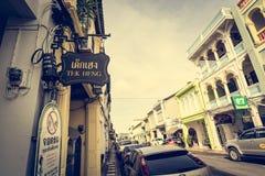 PHUKET TAJLANDIA, NOV, - 21: Phuket stary miasteczko w thalang drodze z Obrazy Stock