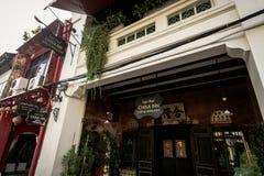 PHUKET TAJLANDIA, NOV, - 21: Phuket stary miasteczko w thalang drodze z Obraz Stock