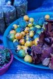 Phuket, Thaïlande : Aubergine jaune et verte ronde à vendre, marché extérieur Photos libres de droits