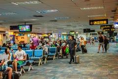 Phuket, Thaïlande - 21 février 2017 : Après arrivé, foule de Photo stock