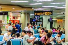 Phuket, Thaïlande - 21 février 2017 : Après arrivé, foule de Photographie stock