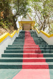 Phuket, Thailand - April 25, 2016 : The main stair leading to the replica of Phra That In-Kwaen Hanging Golden Rock , Thailand Stock Images