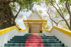 Phuket, Thailand - April 25, 2016 : The main stair leading to the replica of Phra That In-Kwaen Hanging Golden Rock , Thailand Stock Photography