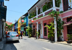 Phuket, Thailand - April 15, 2014 : Old building Chino Portugues style in Phuket Stock Image