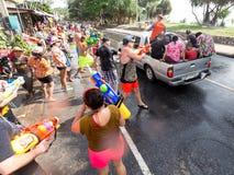 Phuket, Thailand - April 13, 2017: Viering van het Thaise Boeddhistische Nieuwjaar - Songkran Royalty-vrije Stock Foto's