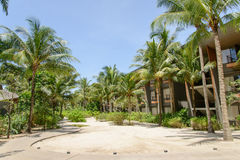 PHUKET, THAILAND - AUGUST 05, 2013: Garden of Renaissance resort Royalty Free Stock Photos