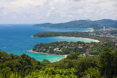 PHUKET, THAILAND-AUGUST 29, 2015 karon view point, we can see ka Stock Images