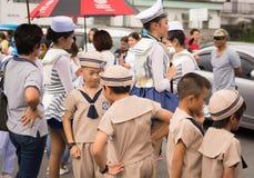 PHUKET, THAILAND - 26. AUGUST: Parade des fantastischen Schulkindes auf Augus Stockfoto