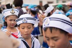 PHUKET, THAILAND - 26. AUGUST: Parade des fantastischen Schulkindes auf Augus Lizenzfreie Stockfotos
