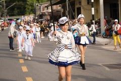PHUKET, THAILAND - 26. AUGUST: Parade des fantastischen Schulkindes auf Augus Stockbilder