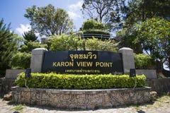 PHUKET, 29 Thailand-AUGUSTUS, het punt van de karonmening van 2015, kunnen wij Ka zien Stock Foto's