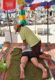 Phuket, Thailand:  Beach Massage Stock Photos
