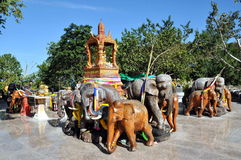 Phuket, Thailand: Cape Promthep Elephant Shrine Stock Photography