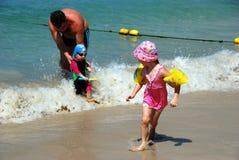 Phuket, Thailand: Children on Beach Royalty Free Stock Image