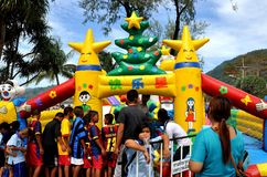 Phuket, Thailand: Children's Play Area at Patong Beach Royalty Free Stock Photography