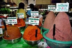 Phuket, Thailand: Curry Varieties at Market Hall Stock Images