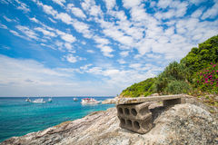 Phuket, Thailand-DEC 21 : beautiful view blue sky and clear wate Royalty Free Stock Photography