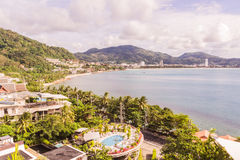 Phuket, Thailand - Dec 4, 2016: Patong beach view from hill of K Stock Photo