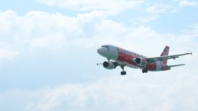 Airbus A320 approaching stock footage