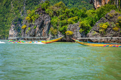 Phuket,Thailand,December 7,2013:Phang Nga Bay trip on long tail Stock Photos