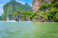 Phuket,Thailand,December 7,2013:Phang Nga Bay trip on long tail Royalty Free Stock Images