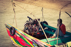 Phuket,Thailand,December 7,2013: Traditional thai boats in Phang Stock Photography