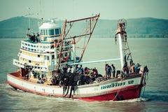 Phuket,Thailand,December 8,2013: Wooden local fisher boat. Phuke Royalty Free Stock Photography